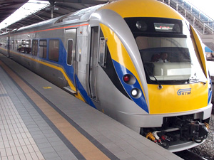 Take a ride with KTM train from Singapore to KL