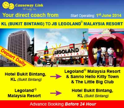 Causeway Link Is Launching New Route to Legoland Malaysia
