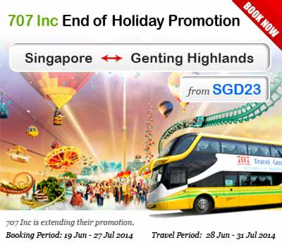 707 Inc Is Launching New Route to Genting Highland Starting from July