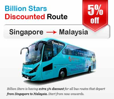 Billion Stars Announces Discounts on Bus Tickets from Singapore to Malaysia