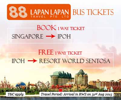 Lapan Lapan Travel Offers FREE Bus Ticket from Ipoh to Singapore, Book Now on Easybook.com