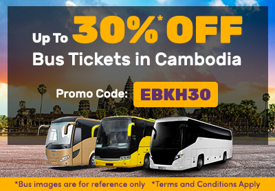Limited-Time Offer! Up to 30% Discount for All Bus Routes in Cambodia!