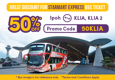 Let's Enjoy 50% Discount for Starmart Express Bus Ticket!