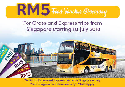 RM5 Food Voucher Giveaway for Grassland Express trips from Singapore
