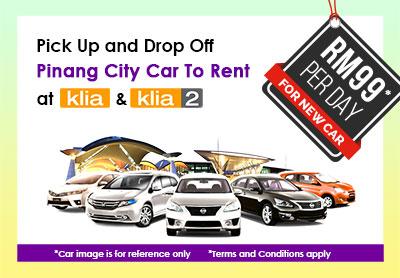 pick up and drop off pinang city car to rent at klia klia2. Black Bedroom Furniture Sets. Home Design Ideas