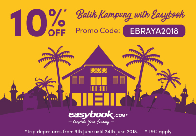 Special Raya offer! 10% Discount for Balik Kampung Trips