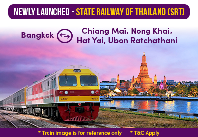 Easybook Newly Launched State Railway of Thailand(SRT)