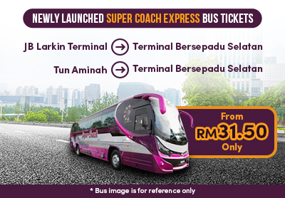 Limited time offer!! From 31.50 only!! Travel from Johor to TBS today with Super Coach Express