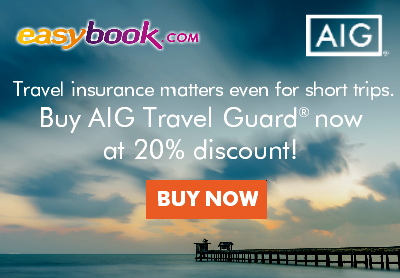 Enjoy 20% off on AIG Travel Insurance**