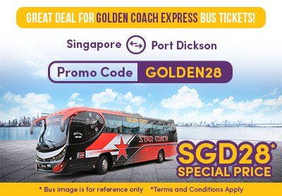 SGD28 Special for Golden Coach Express Bus Tickets!