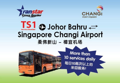 Shuttle service between Singapore Changi Airport and JB CIQ