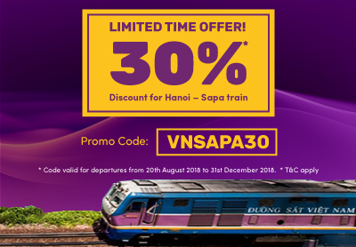 Limited time offer! 30% Discount for Hanoi – Sapa train service in Vietnam